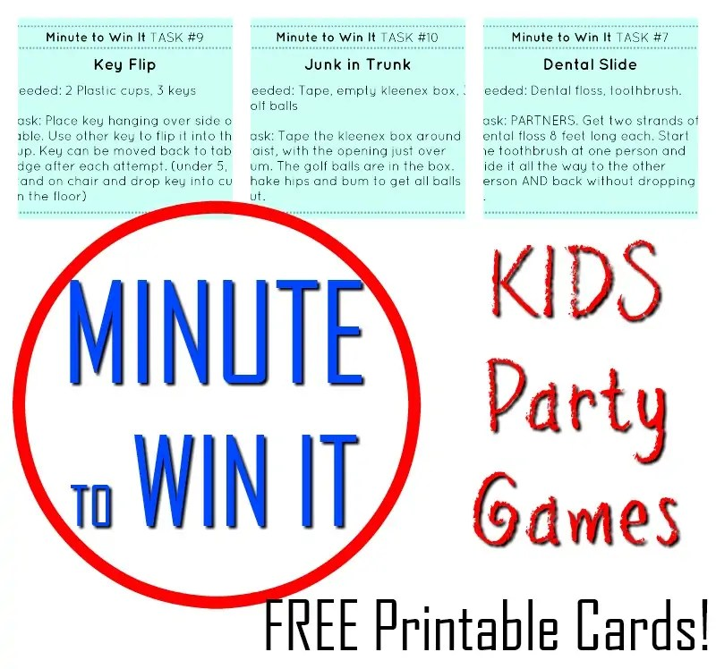SPECTACULAR Minute to Win It Kids Party Games! - How Wee Learn