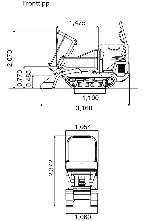 wacker-neuson-DT-15-diagram-fronttip