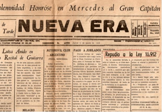 La Noche de los Bastones Largos: su repercusión en Mercedes y otros hechos relacionados