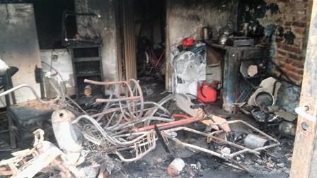 Pérdida total en incendio de una vivienda