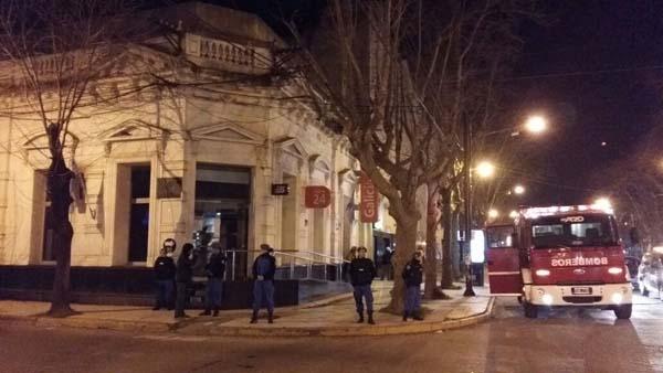 Incendio en el banco Galicia