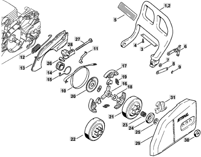 stihl chainsaw parts diagram 025 within diagram wiring and