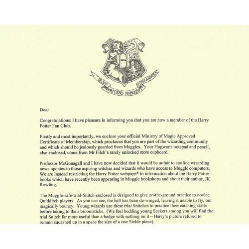 Medium Crop Of Harry Potter Letter