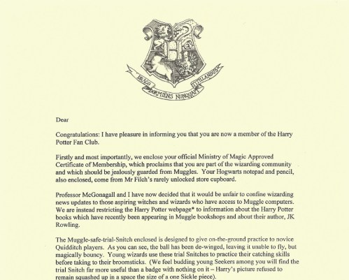 Medium Of Harry Potter Letter