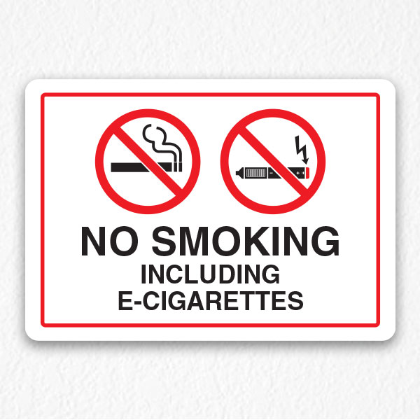 No Smoking Sign Including E-Cigarettes - HPD Signs NYC