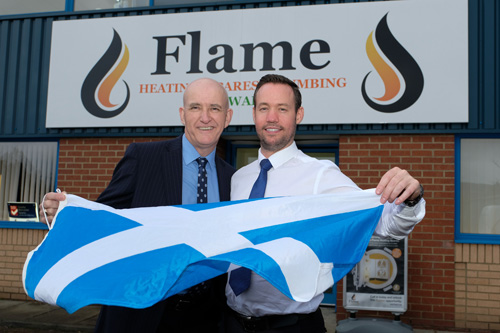 Danny Byrne (left) with John Savage