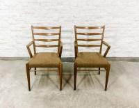 Mid-Century Set of Teak Scandinavian Design Dining Chairs ...
