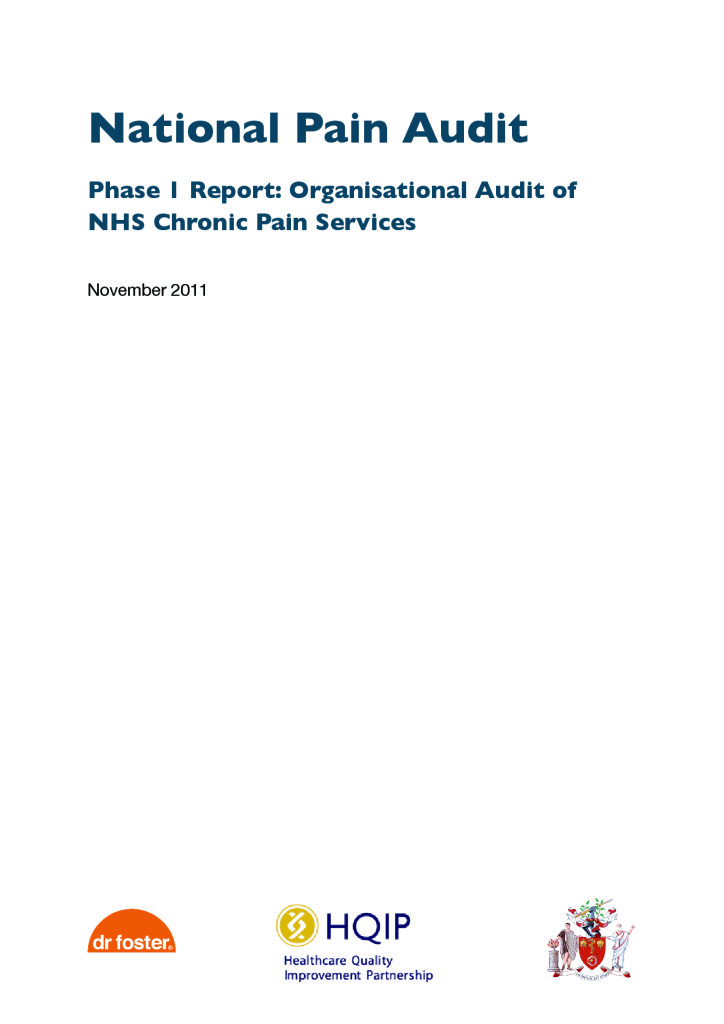 National Pain Audit Reports from 2011 to 2012 \u2013 HQIP