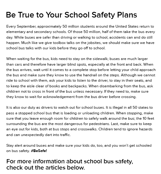 Be True to Your School Safety Plans - HUNTER ROBERTS CONSTRUCTION GROUP