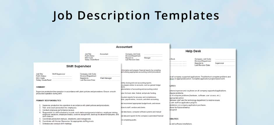 Job Description Template - hrVillage - job description template word