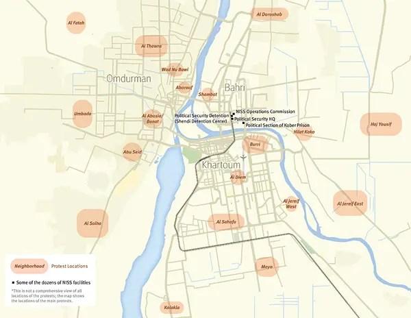 Image Gallery Khartoum Map