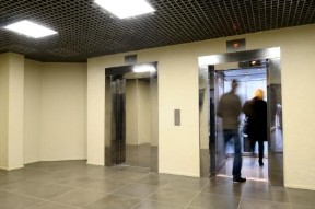 people entering a lift