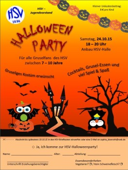Flyer Halloweenparty 2015