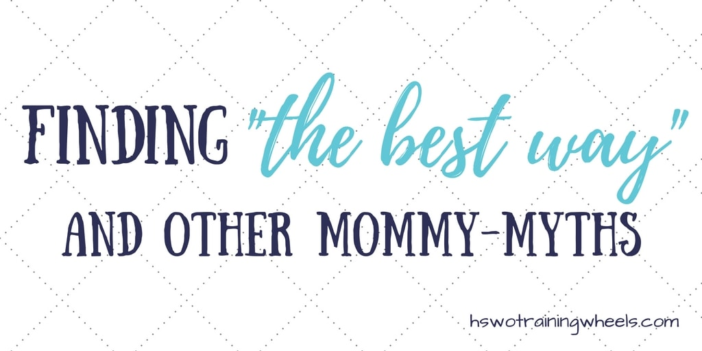 Many moms start out longing for black and white, and end up relieved that there is flexibility where they formerly sought narrower boundaries.