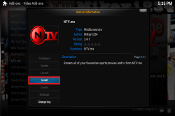 You will see a pop up saying NTV.mx has been enabled