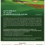 Hyatt Open 2015 at Banyan Golf Club Hua Hin