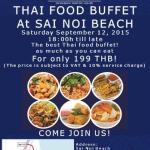 Thai Food Buffet @ Sanae Beach Club