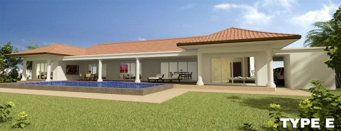 Orchid Palm Homes Villa For sale in Hua Hin Type_E_-_Perspective