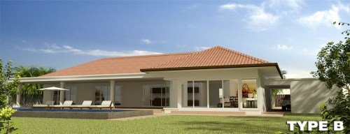 Orchid Palm Homes Villa For sale in Hua Hin Type_B_-_Perspective