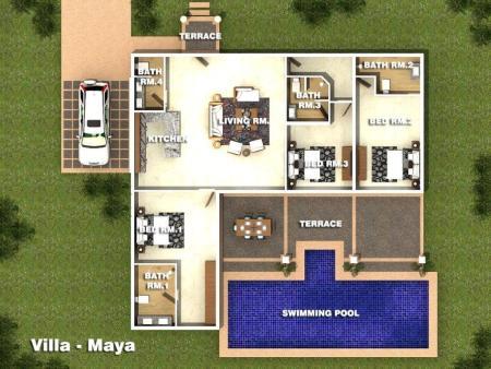 Villa-JasVilla-Maya Orchid Palm Homes Mali Residenc Hua Hin (3)mine Orchid Palm Homes Mali Residenc Hua Hin (3)