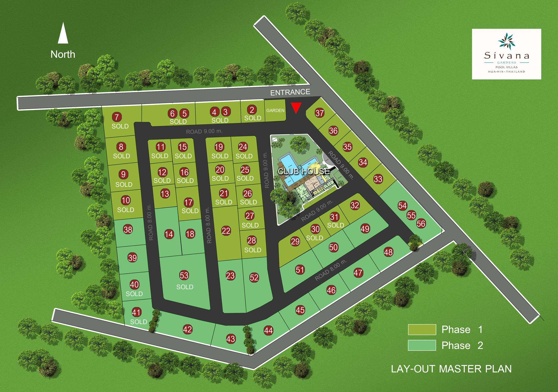 Sivana Gardens Hua Hin Villas Garden Ftempo