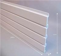 White Plastic Slat Garage Wall Panels Storage with Slat ...