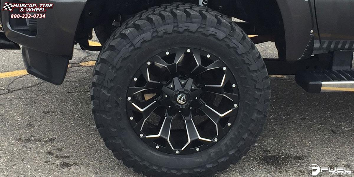 Ford F 250 Super Duty Fuel Assault D546 Wheels Black Milled
