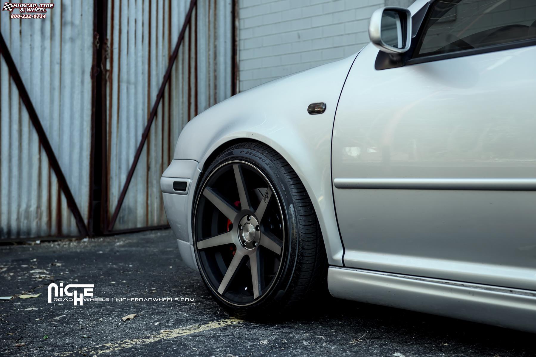 Volkswagen Gti Niche Verona M150 Wheels Black Machined