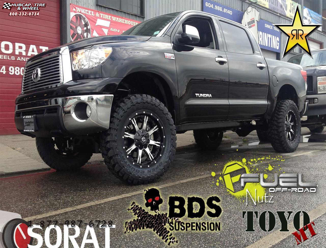 Toyota Tundra Fuel Nutz D252 Wheels Black Machined With