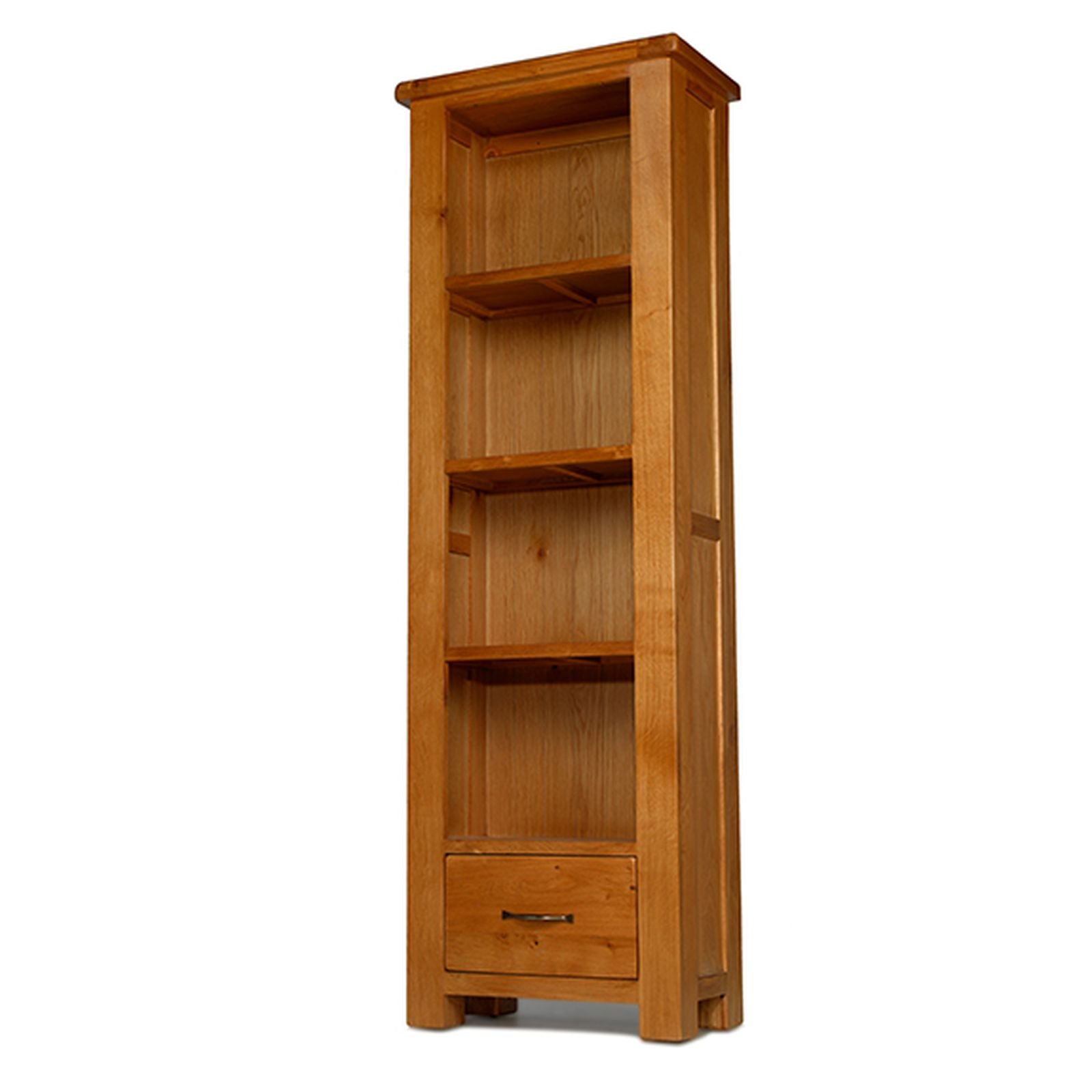 Melrose Solid Oak Furniture Narrow Bookcase With Drawer Ebay