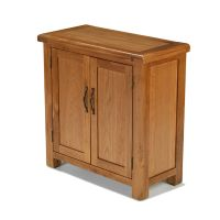 Rushden solid oak furniture small petite cabinet storage ...