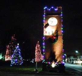 Hudson clocktower at Christmas. Photo credit Dana Giel-Ray