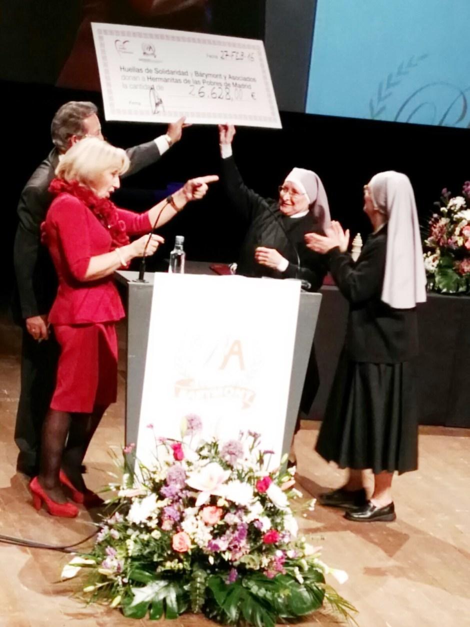 Huellas de Solidaridad hace un donativo adicional a la Hermanitas de los Pobres de Madrid de 26.628,00 €
