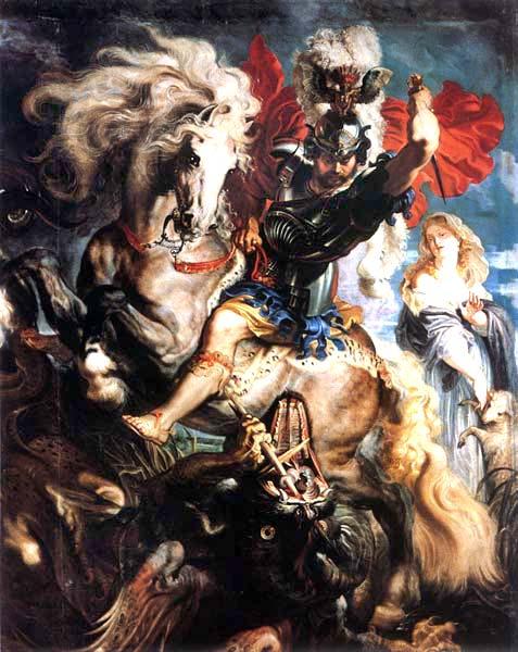 Rubens. San Jorge y el Dragón