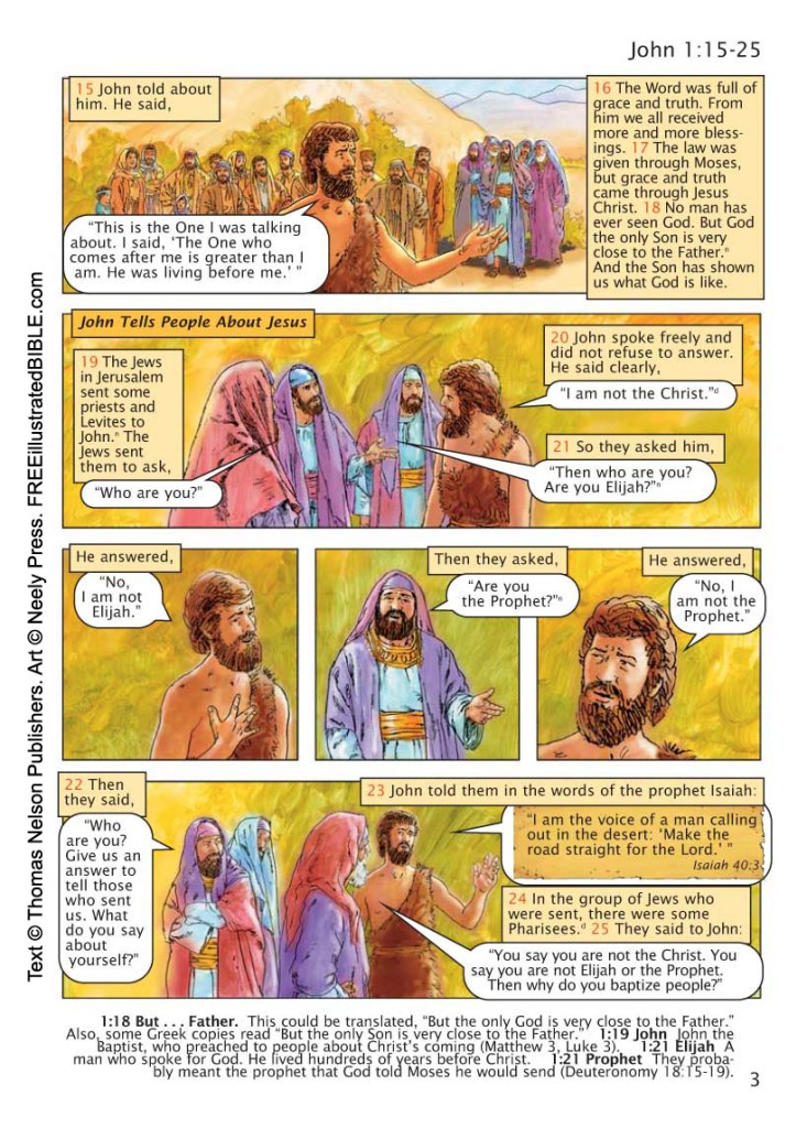 John 1 from the Free Illustrated Bible.