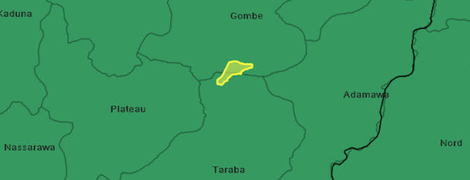 Map of the Pipero language area