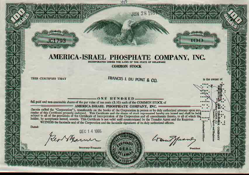 USA historic bonds and shares - Company Share Certificates