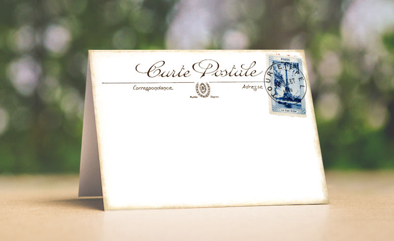 VINTAGE STYLE FRENCH POSTCARD TENT STYLE WEDDING PLACE CARDS or