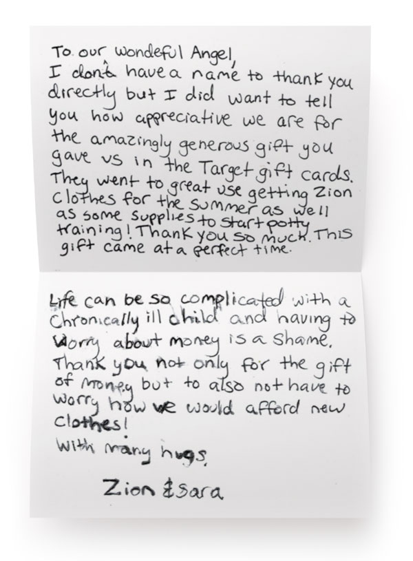 A Letter from a Sick Child\u0027s Mother