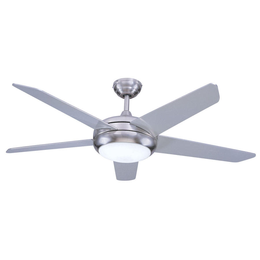 Euro Fans Neptune Ceiling Fan 54 inch Brushed Nickel with