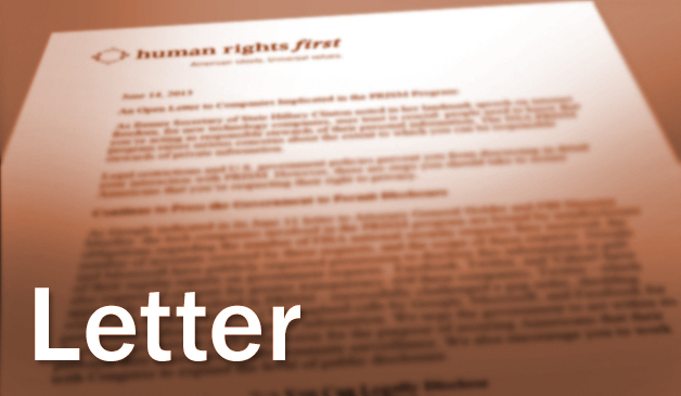 Letter to Ambassador Harper Supporting UN Human Rights Council