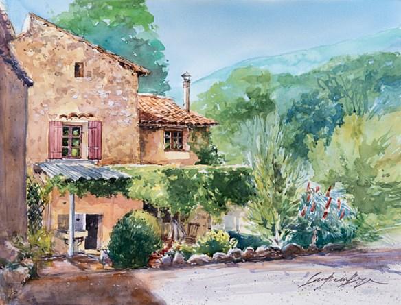 Vaucluse - Bedoin - Maison de Bernadette et Georges aux Colombets.