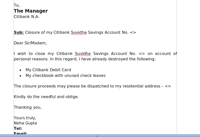How To Write Letter For Bank Password Locked Reset Citibank Account Closure Without Visiting Branch