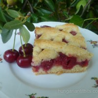 Hungarian Sour Cherry Lattice Pie - Meggyes Pite
