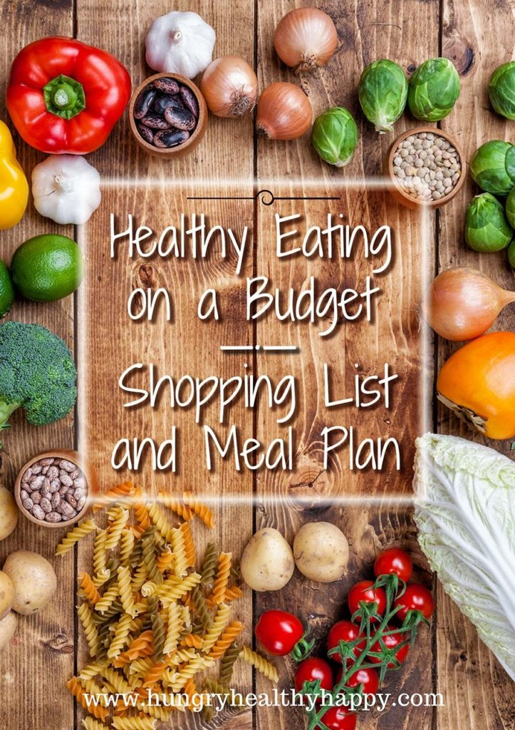 Healthy Eating on a Budget - Shopping List and Meal Plan - Hungry