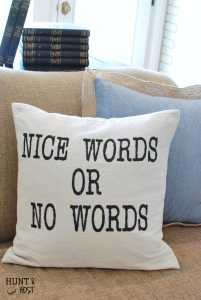 Nice Words Or No Words
