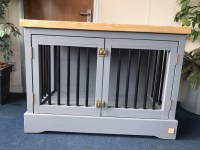 Luxury Dog Crates Furniture. Dog Kennel End Table Plans