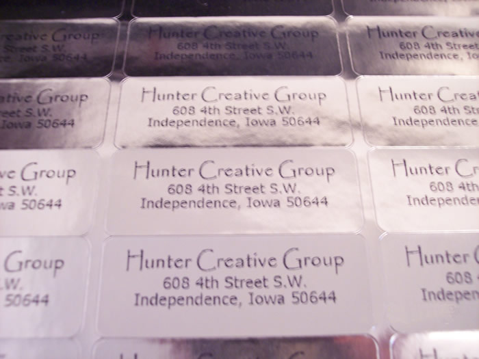 Professional Address Labels Clear White Shiny Metallic Gold Silver - sample address label