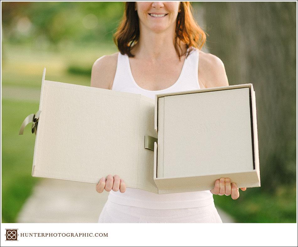 Molly  Dave - A Custom Heirloom Wedding Album  Presentation Box