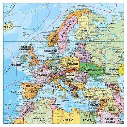 Franken World Map Pinnable Board 133,000,000, 133x88cm - HuntOfficeie